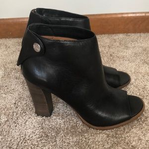 Coach Open Toe Booties